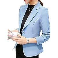 Uni-Wert Blazer Mujer Chaqueta de Traje Slim Fit Elegante Casual Oficina Negocios Outwear Solapa Manga Larga Chaqueta de…