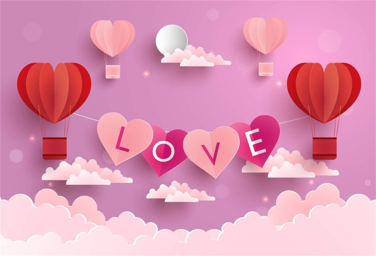 Laeacco 10x7ft Dusk Wildland Highway Bicycle Colorful Heart Balloon Bunch Reeds Vinyl Photography Background Birthday Party Banner Backdrop Child Adult Portrait Shoot Wallpaper Studio Props