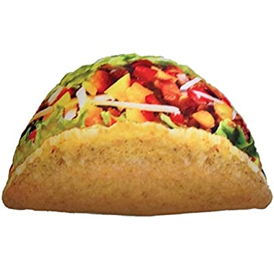 "iscream Snack Shack Photoreal Taco Shaped 20"" x 12"" Microbead Accent Pillow: Home & Kitchen"