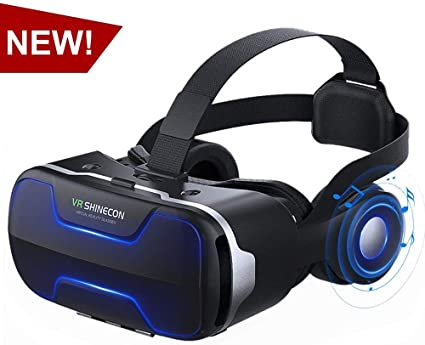 Amazon Com Vr Headset Virtual Reality Headset Vr Shinecon 3d Vr Glasses For Movies Video Games Virtual Reality Glasses Vr Goggles For Iphone Android And Other Phones Within 4 7 6 2 Inch