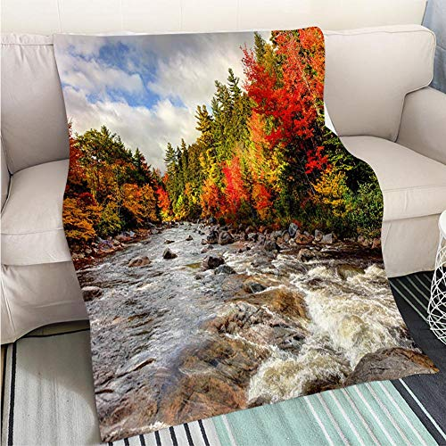BEICICI Super Soft Flannel Thicken Blanket Autumn in The White Mountains of New Hampshire Sofa Bed or Bed 3D Printing Cool Quilt