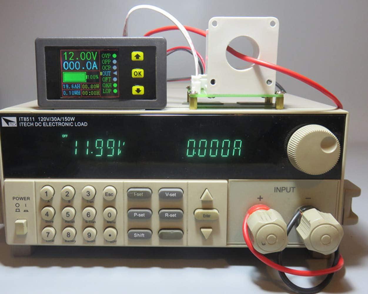 Probador de la bater/ía del sensor de voltaje del voltaje de Hall del voltaje del mult/ímetro 0-90V 100A de Digitaces DC 12V 24V 30V 48V 60V 80V 80V