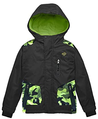 705c74465 Amazon.com  Wantdo Boy s Ski Jacket Waterproof Thick Winter Coat ...
