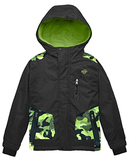 7d06fedbc Wantdo Boy's Hooded Ski Jacket Waterproof Winter Coat for Skiing Skating  Hiking