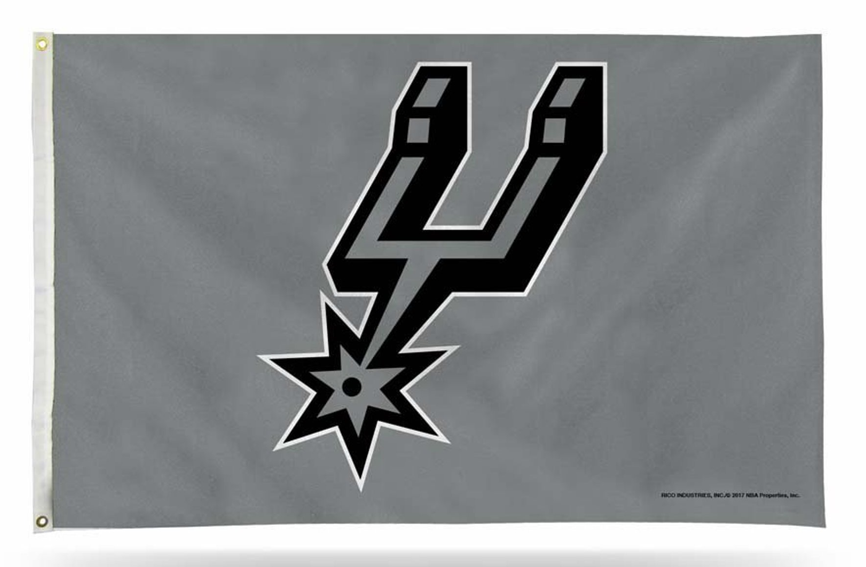 Rico Industries, Inc.. San Antonio Spurs GRAY Rico 3x5 Flag Outdoor House Banner NBA Basketball by Rico Industries, Inc.