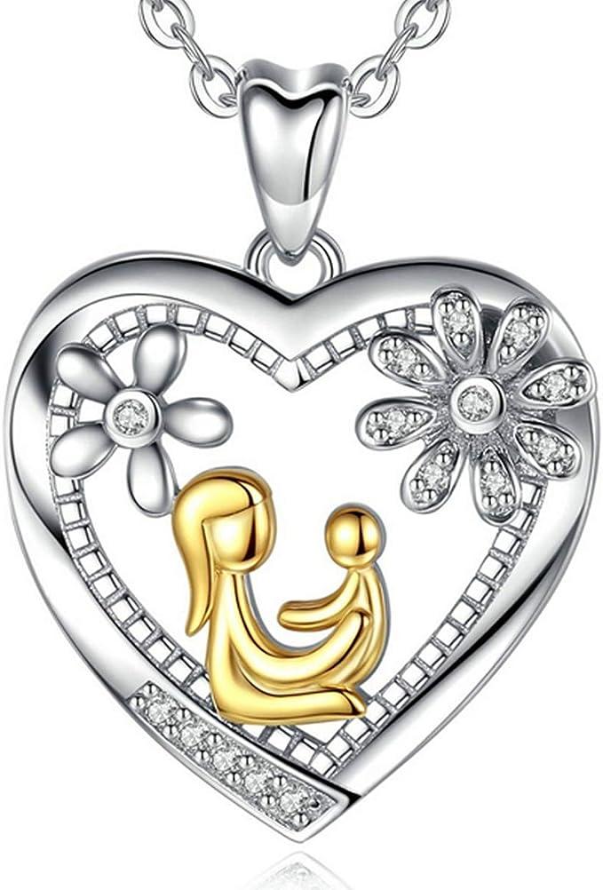 Love Anhänger mit Zirkonia in Herz form Gold Silber mit Halskette Kette 46cm