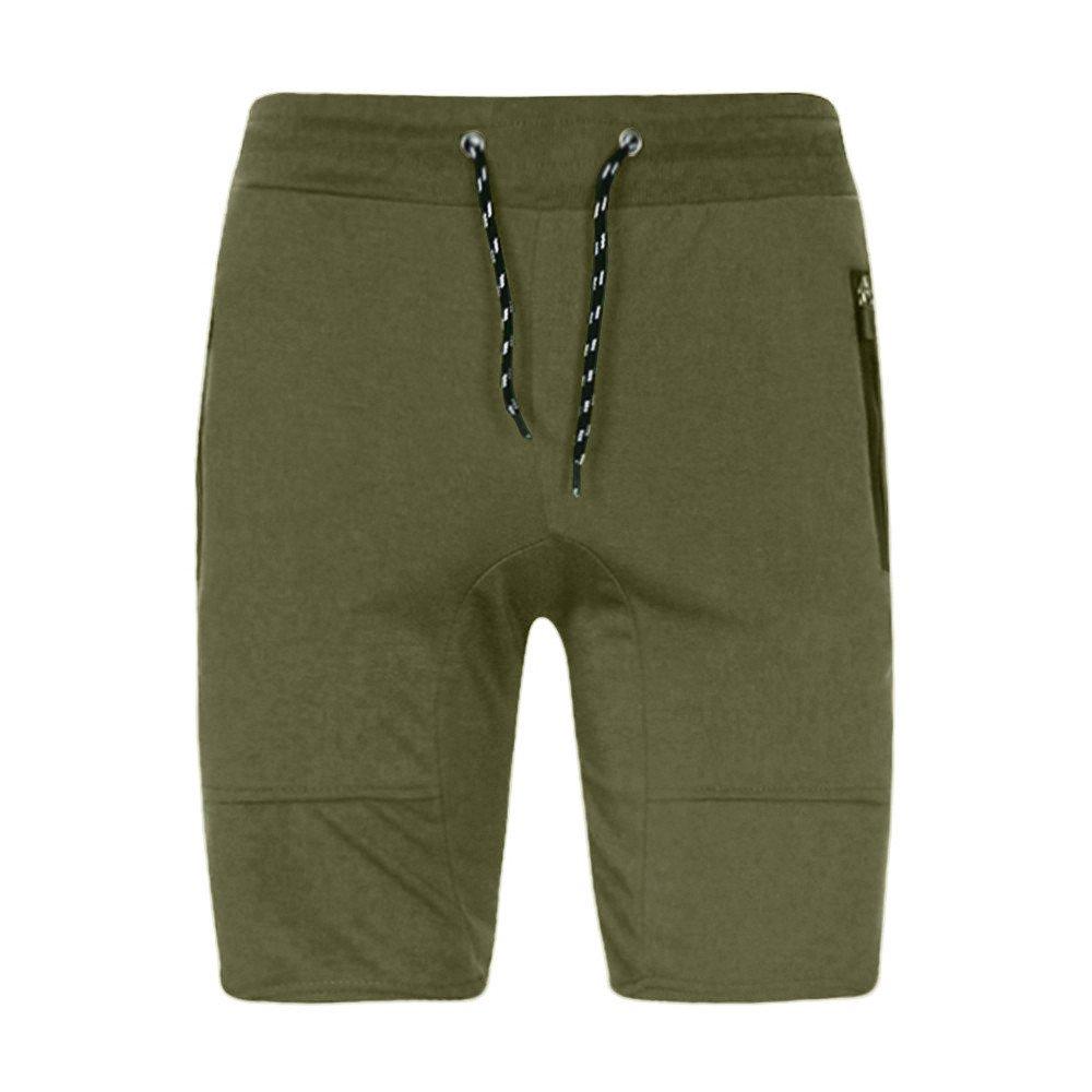 Xlala Men's Hipster Shorts Hip Hop Casual Fashion Athletic Jogger Pants Beach Surfing Swimming Loose Drawstring Elastic Waist Slim Sweatpants (Army Green, M)