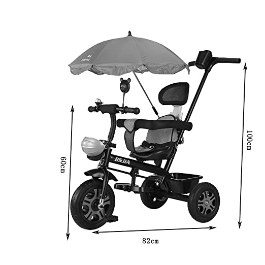 Amazon.com : Childrens Tricycle Bicycle 1-3 Child Trolley Men and ...