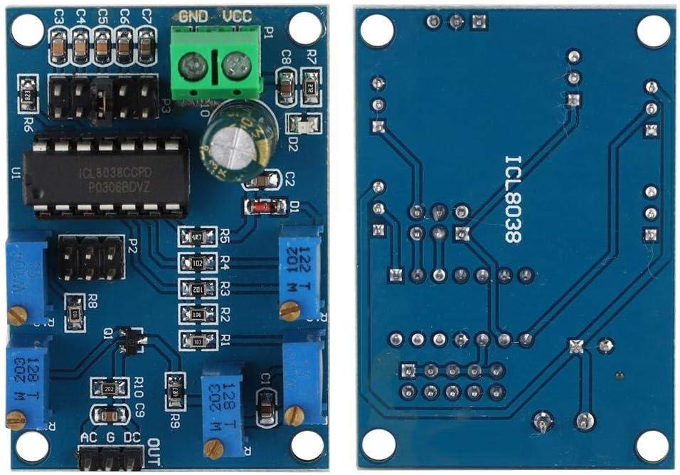 Topiky Signal Generator Module,ICL8038 Medium//Low Frequency Signal Wave Generator Module Sine//Triangular//Rectangular,Single Power DC Point 12V-15V