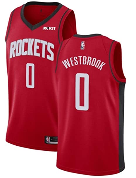 buy popular 606e9 24379 2019 New Houston Rockets #0 Russell Westbrook Jersey Red