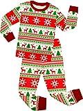 shelry Girls and Boys Santa Christmas Pajamas Children Cotton Clothes Kids Pjs Size