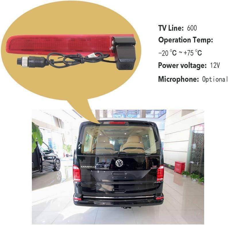 Bremsleuchte NTSC nur Doppelt/üren Bremsleuchte Dachkante Einparkhilfe R/ückfahrkamera Transporter Kamera an 3 /≥2010 f/ür VW T5 T6 3