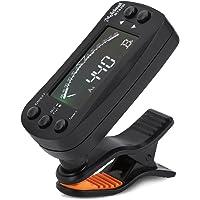 Bnineteenteam Guitar Tuner Clip On 2 in 1 Guitar Tuner Metrónomo Sintonizador electrónico Digital Acústico con Pantalla…