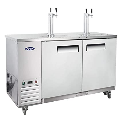 Amazon.com: Kegerator Beer Dispenser With 2 Tap Towers, Atosa Commercial  Keg Cooler Refrigerator, MKC58: Kitchen U0026 Dining