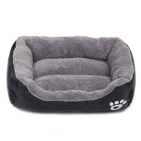 Cama para Perros Gato Cesta Mascotas Pequeña Medio Grande Lavable (L:66*50