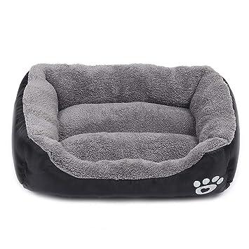 Cama para Perros Gato Cesta Mascotas Pequeña Medio Grande Lavable (M:54*42 CM, negro): Amazon.es: Productos para mascotas