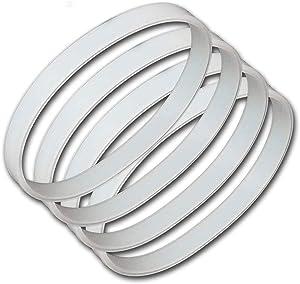 Bobblei 4 pack Blender Sealing Gaskets Seal Rubber Sealing O-Ring Gasket Replacement for Ninja Juice Blenders BL450/BL480/BL490 10cm 3.94 Inch Diameter