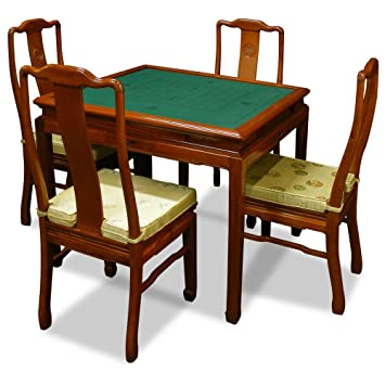 China Furniture Online Rosewood Ma Jon Table, Hand Crafted Longevity Motif  Game Table Set In