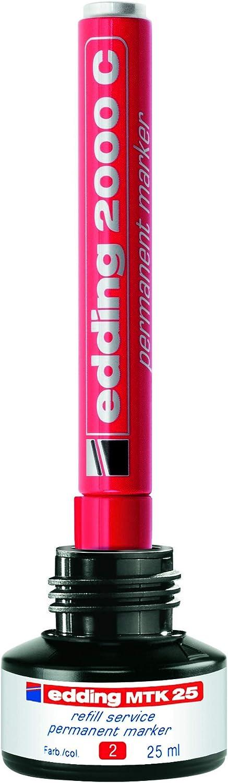 edding 2000 Marcatore Permanente; Blister 3 pz.; Colori nero blu; Tratto 1,5-3 mm rosso