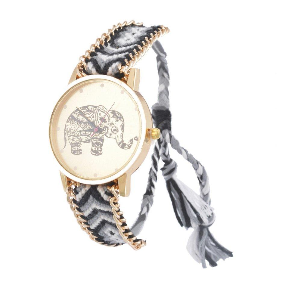 Amazon.com: Souarts Womens Velvet Adjustable Weave Bracelet Round Wrist Watch (Dream Catcher): Watches
