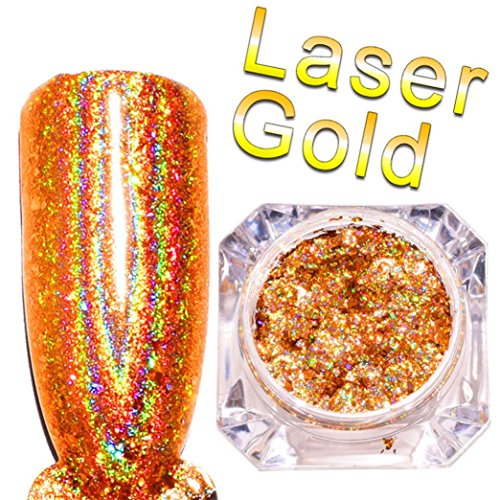 Water Gold Laser Charm (YJYdada Mirror Nail Polish Plating Gold Paste Metal Color Gel Stainless Steel DIY)