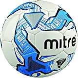 Mitre Impel Unisex Adult Training Football, Multicolor (White/Blue/Black), Size 2 (Without Ball Pump)