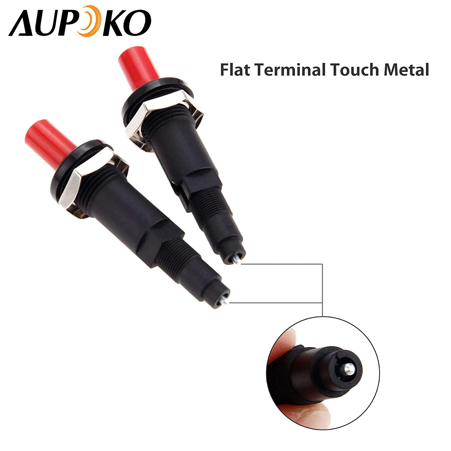Aupoko Piezo Spark Ignition Fits for Gas Fireplace//Gas Oven//Gas 2 PC One Outlet Plug Push Button Ceramic Spark Kitchen Lighter with High Resistance