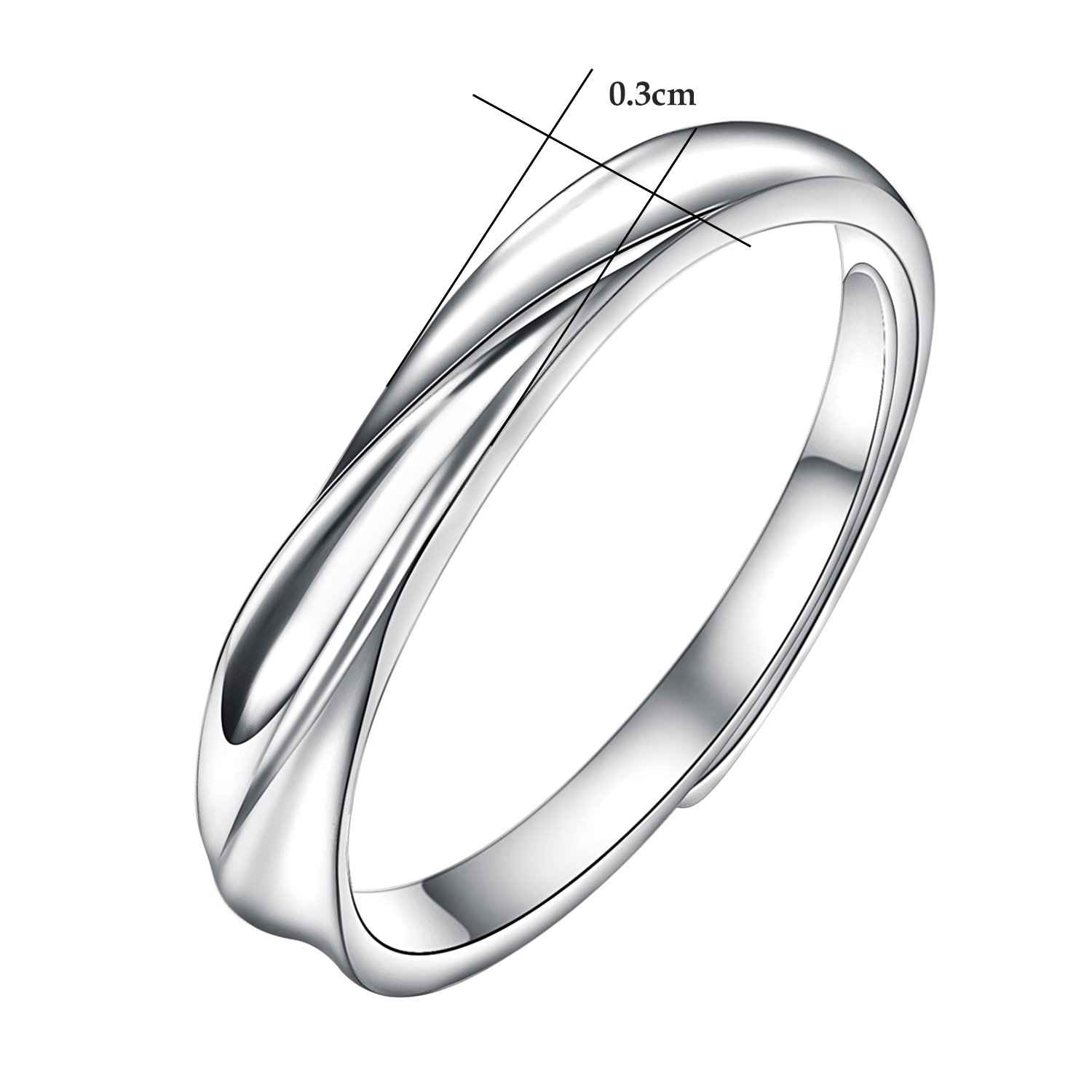 2e1fed9d3d Amazon.com: Yoursfs His & Hers Matching Wedding Rings Adjustable CZ S925  Sterling Silver Rings for Men: Home & Kitchen