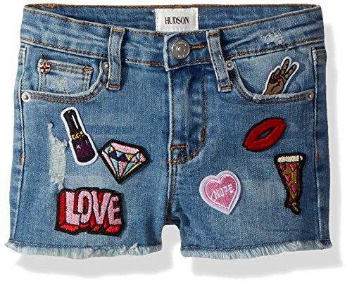 HUDSON Girls' Toddler' Fashion Short, Stone Wash, 2T