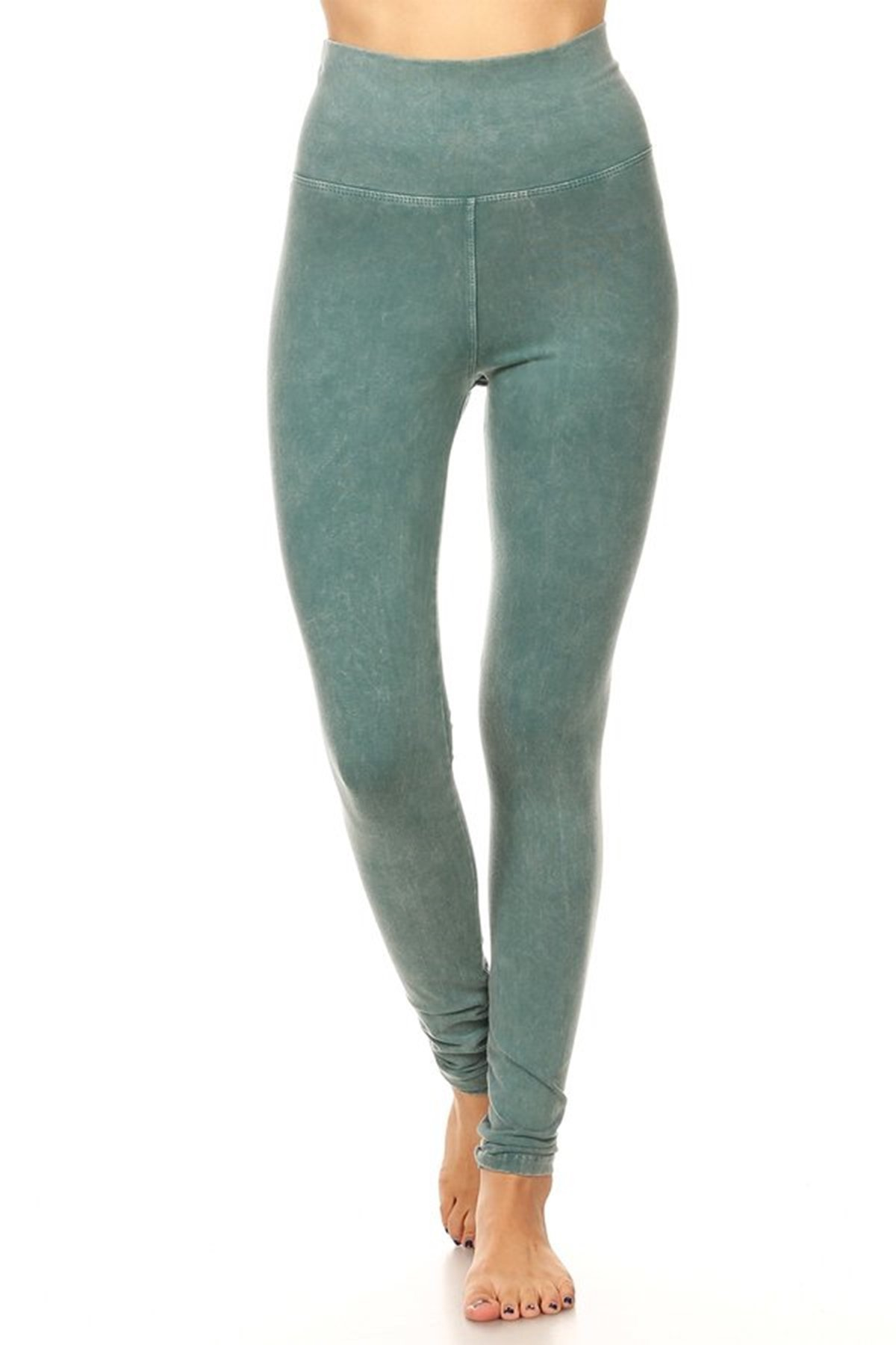 T Party Womens Mineral Wash Fold Over Legging SEA S