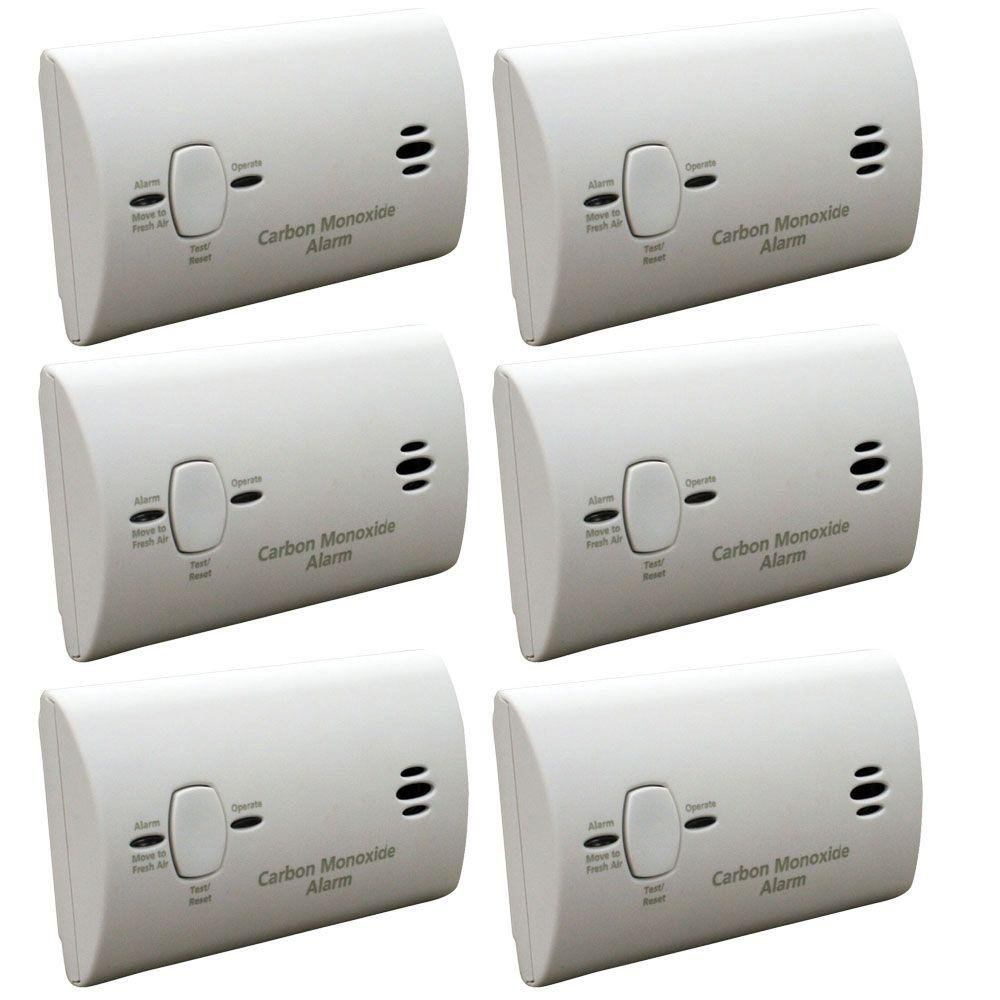 Kidde KN-COB-B-LPM Battery Operated Carbon Monoxide Detector, 6-Pack by Kidde