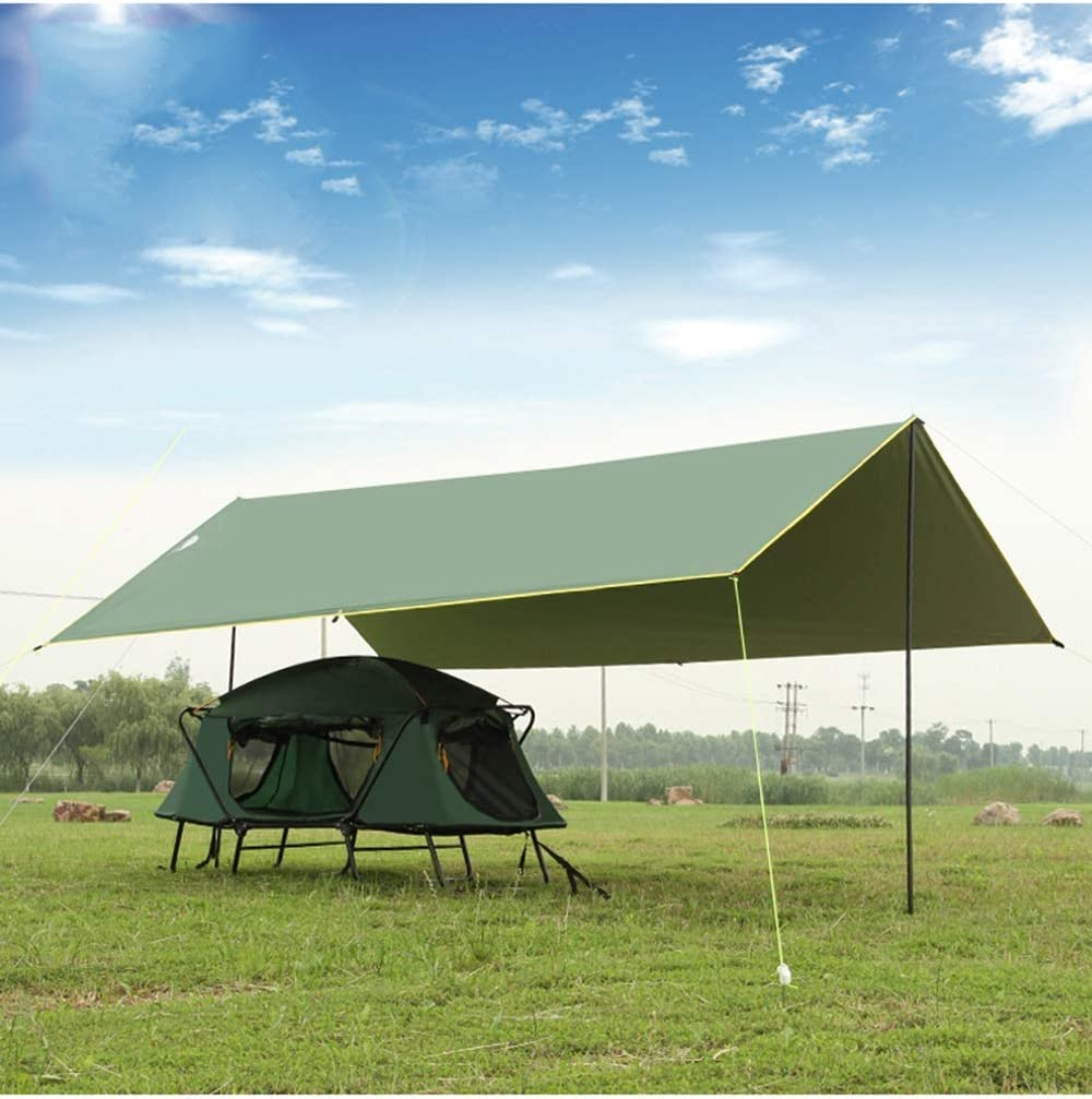 YUDEYU Pérgola Pabellón Cámping Pescar Impermeable Recubierto De Plata Protector Solar Toldo Tienda Cielo Al Aire Libre Espesar (Color : Brown, Size : 4x3m): Amazon.es: Hogar