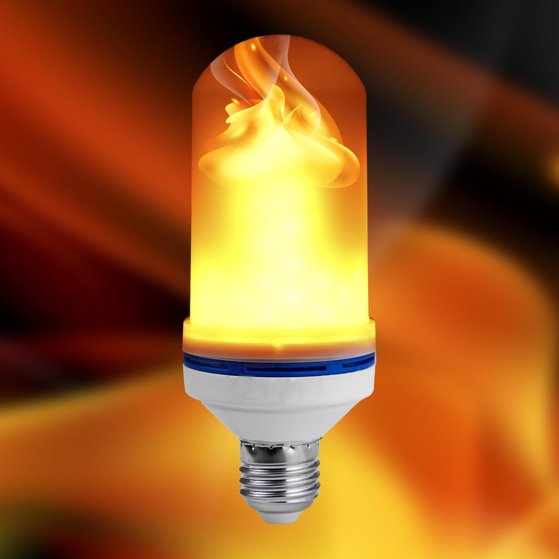 JungleBros Flickering Flame Bulb, LED Flame Effect (Updated), E26 Standard, Decorative Warm Light, Indoor Outdoor, Atmosphere
