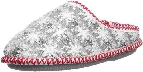 Dearfoams Kids Family Plan Stripe Knit Clog Slipper