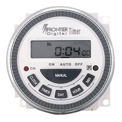 TSKTECH Digital Timer Programmable Controller TM619 4PIN 30AMP Type: Frontier/Euro- Replaceable Battery - Connecting Thimbles