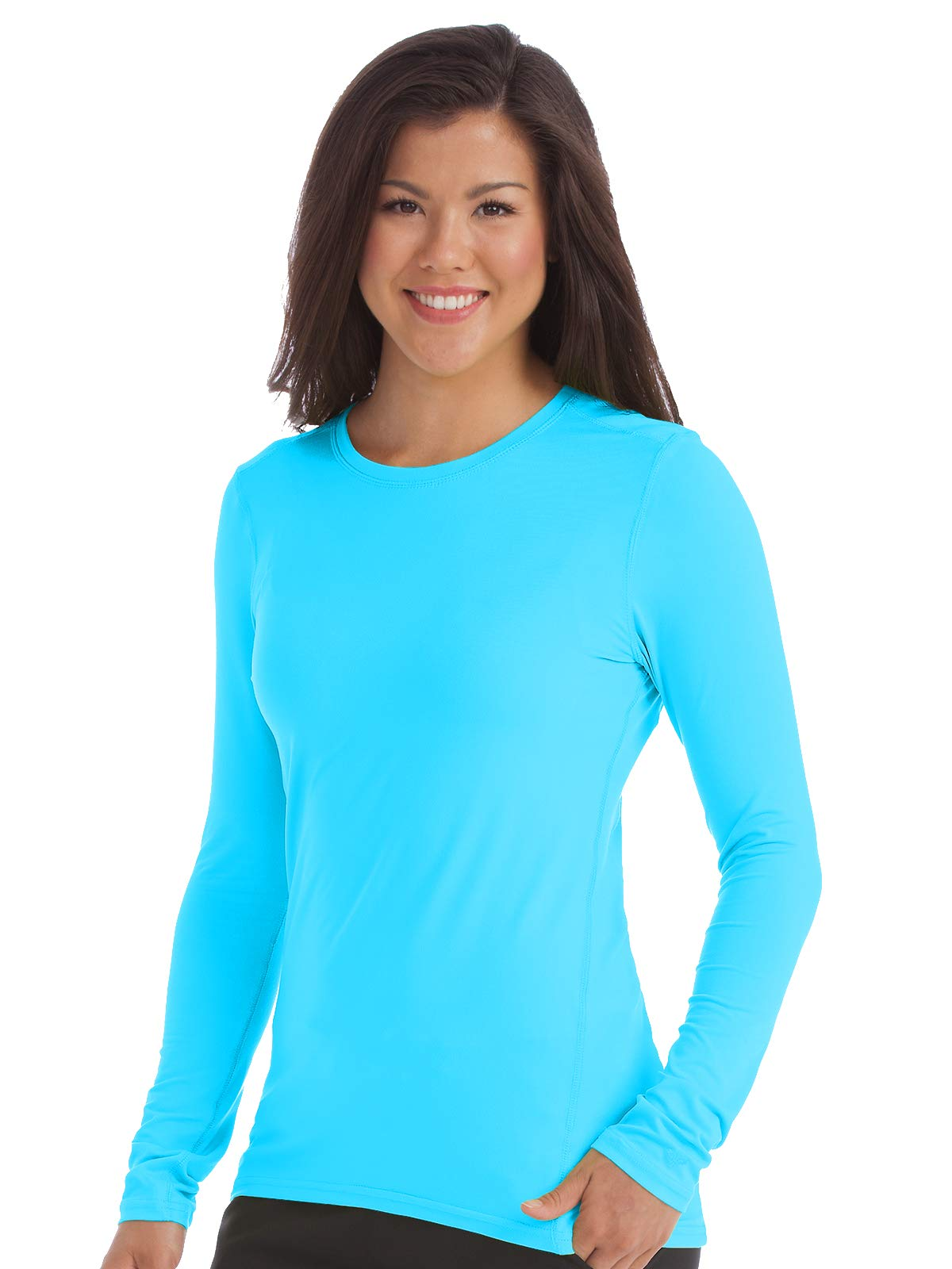 Med Couture Activate Women's Performance Knit Scrub Tee Turquoise L