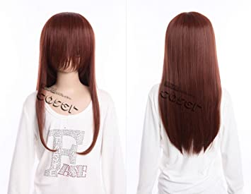 Kawaii-Story W DE 03 DE bc11 marrón Brown 60 cm Cosplay Peluca Wig Perruque