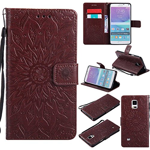 Galaxy Note 4 Case CUSKING Premium Leather Wallet Magnetic for sale  Delivered anywhere in Canada