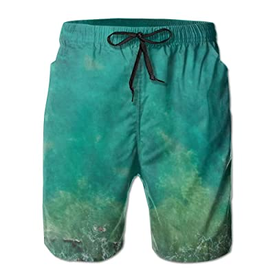 Men's Shorts Swim Beach Trunk Summer Green Sea Beach Fit Classic Shorts With Pockets