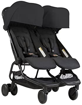 Mountain buggy Nano Duo v1 de gemelos, carrito - Black Negro: Amazon.es: Bebé