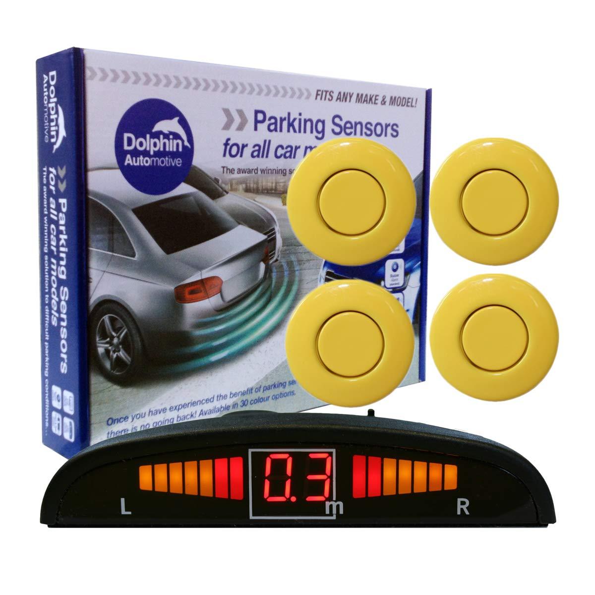 Black Dolphin DPS450 Reverse Parking Sensors In 32 Colours 4 Ultrasonic Radar Sensors Kit Audio /& Display Alert System Matt /& Gloss Black 30 More Colours