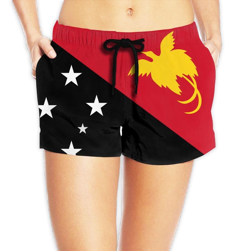 Amazon.com  Yongchuang Feng Flag Of Papua New Guinea Women s Cool Hot Pants  Summer Casual Beach Shorts Quick Dry Swim Trunks  Clothing 777fb920ab