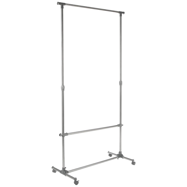 LEVIVO Perchero Extensible de Aluminio, Plata, 99.5x32.5x200 cm