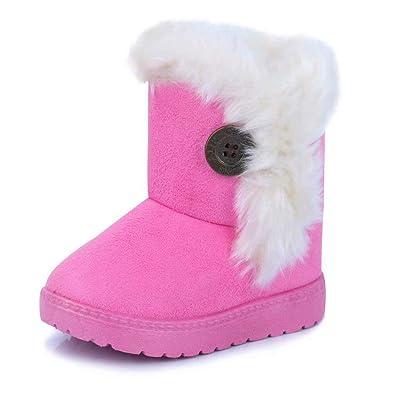 8648bb7d784a8 Gaatpot Fille Garçon Chaussures Bottes d hiver Bébé Enfant Bottines Mode de  Neige avec Doublure