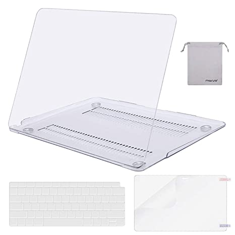 MOSISO MacBook Air 13 inch Case 2019 2018 Release A1932 with Retina Display, Plastic Hard Shell & Keyboard Cover & Screen Protector & Storage Bag ...