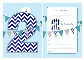 Second Birthday Party Invitations