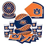 Auburn Tigers Party Pack - Plates, Cups, Napkins - Serves 8