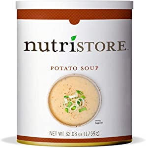 Nutristore Potato Soup #10 Can | Premium Variety Ready to Eat Meals | Bulk Emergency Food Supply | Breakfast, Lunch, Dinner | MRE | Long Term Survival Storage | 25 Year Shelf Life