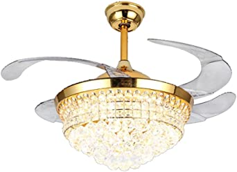 Luces de restaurante nórdico Comedor Luces de ventilador de techo Moderno Cristal europeo simple Luces de la sala Mesas de dormitorio Ventiladores invisibles: Amazon.es: Iluminación