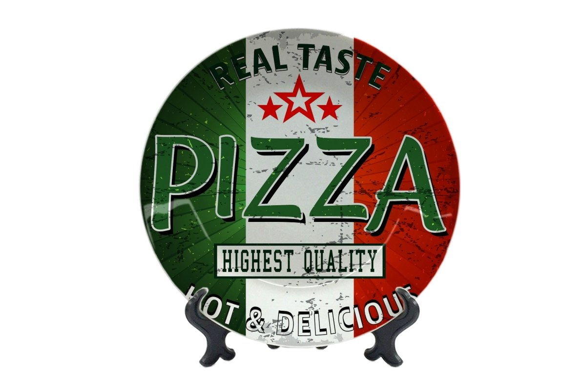 Piatti Alimentare Ristorante vero gusto pizza Ceramica Stampato